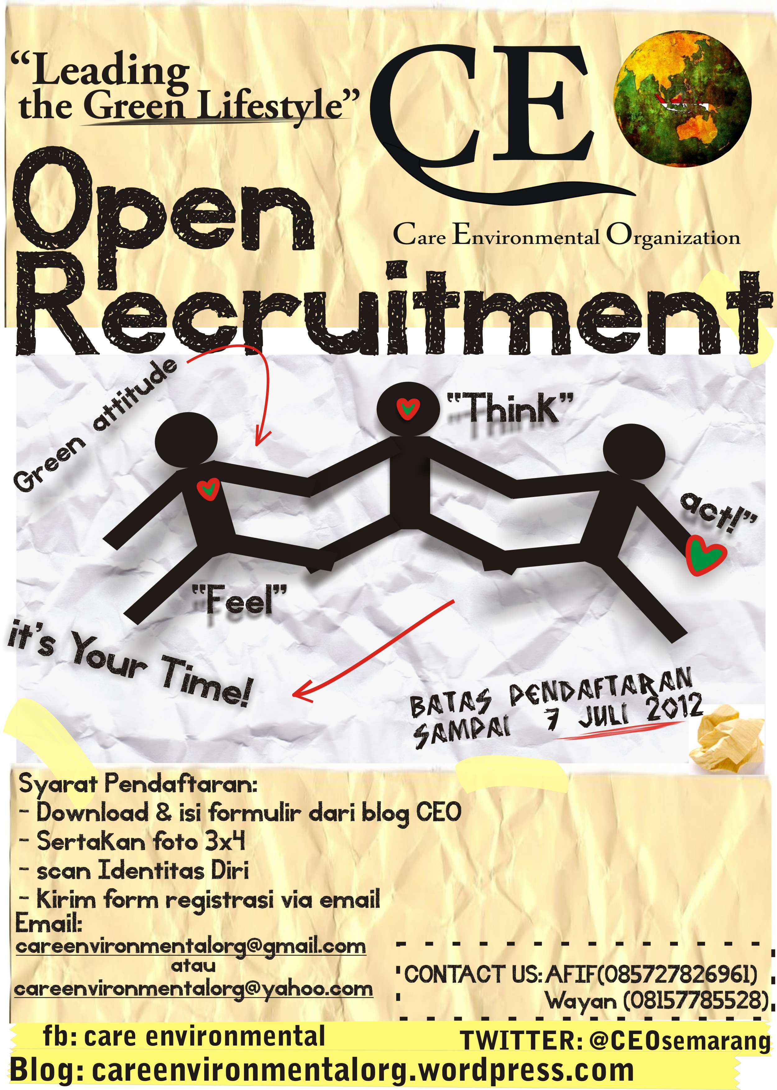 Open Recruitment Anggota Tahun 2012 Care Environmental Organization